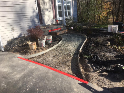 Before - Stamped Concrete Walkway