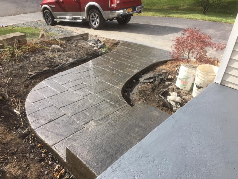 After - Stamped Concrete Walkway